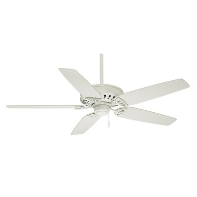 54 Concentra 5-Blade Ceiling Fan with Pull Chain Receiver Finish: Snow White with Matte Snow White Blades