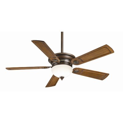 54 Whitman 5-Blade Ceiling Fan Finish: Brushed Cocoa with Walnut Blades