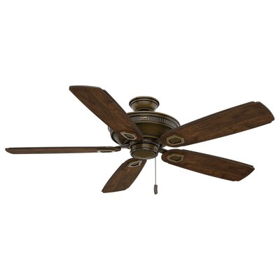 60 Heritage 5-Blade Ceiling Fan Motor Finish: Aged Bronze