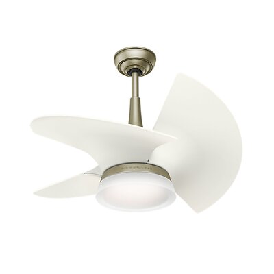 30 Orchid 3-Blade Ceiling Fan Finish: White