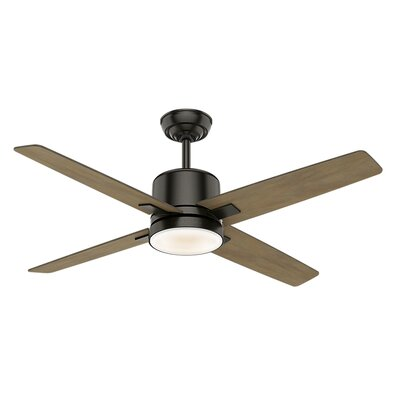 52 Axial 4 Blade Ceiling Fan Motor Finish: Noble Bronze
