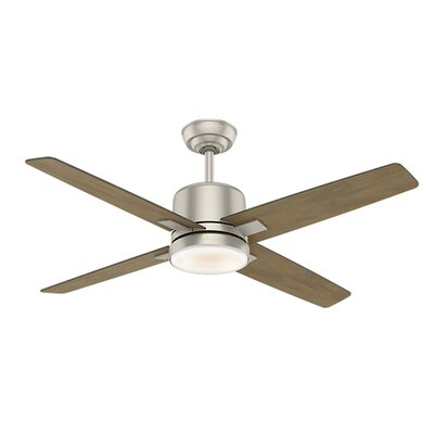 52 Axial 4 Blade Ceiling Fan Motor Finish: Matte Nickel