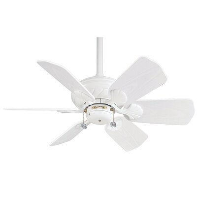 31.25 Wailea 6-Blade Ceiling Fan Motor and Blade Finish: Snow White