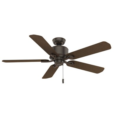 54 Compass Point Onyx Bengal 5 Blade Outdoor Ceiling Fan Finish: Cocoa