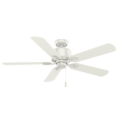 54 Compass Point Onyx Bengal 5 Blade Outdoor Ceiling Fan Finish: White