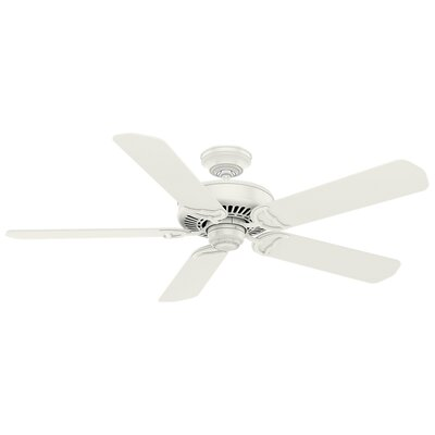 54 Panama 5 Blade Ceiling Fan Finish: White with Rustic Oak Blades