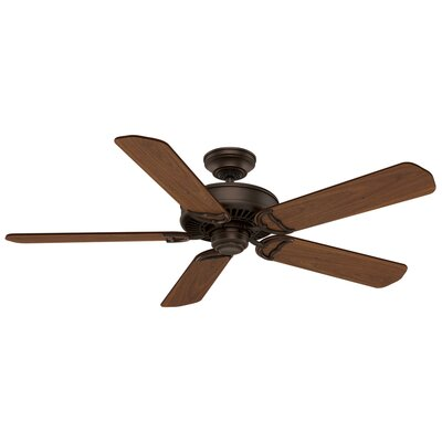 54 Panama 5 Blade Ceiling Fan Finish: Brushed Cocoa with Walnut Blades