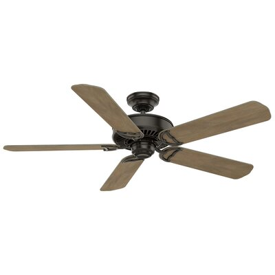 "Image of 54"" Panama 5 Blade Ceiling Fan Finish: Noble Bronze with Barnwood Blades"