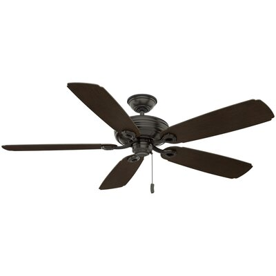 60 Charthouse 5 Blade Outdoor Ceiling Fan Finish: Noble Bronze