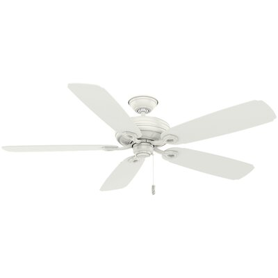 "60"" Charthouse 5 Blade Outdoor Ceiling Fan Finish: Fresh White"