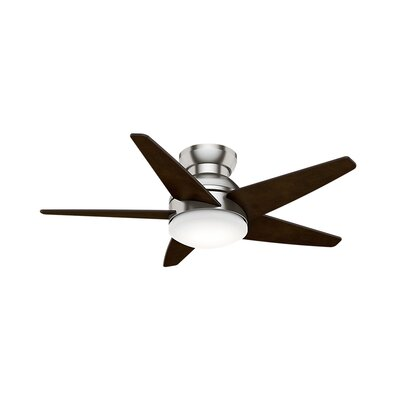 44 Isotope 5 Blade Ceiling Fan Finish: Brushed Nickel with Espresso Blades