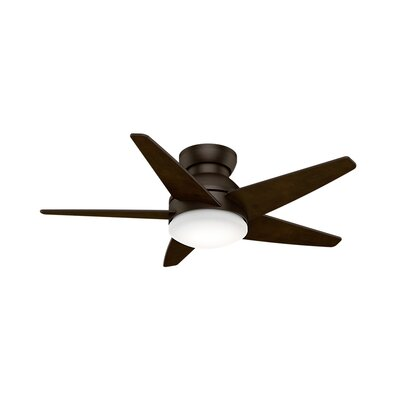44 Isotope 5 Blade Ceiling Fan Finish: Brushed Cocoa with Espresso Blades