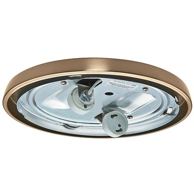 Compact Fluorescent Low Profile Light Fitter Finish: Antique Brass