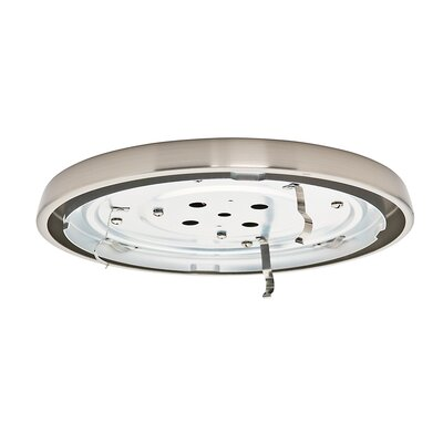 Compact Fluorescent Low Profile Light Fitter Finish: Brushed Nickel