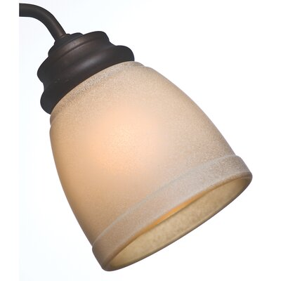Side Glass 10.6 Bell Ceiling Fan Fitter Shade Color: Tea Stain