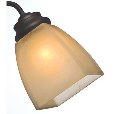 Side Glass 10.8 Square Ceiling Fan Fitter Shade Color: Frosted Amber Speckle