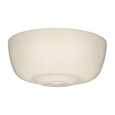 12.6 Glass Ceiling Fan Bowl Shade Finish: Cased White