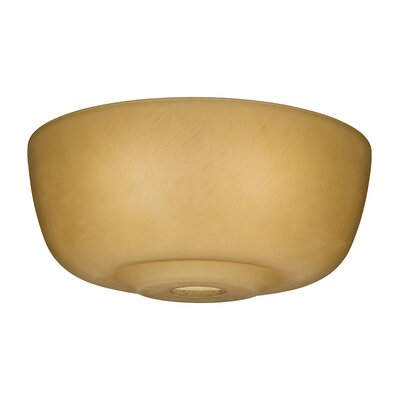 12.6 Glass Ceiling Fan Bowl Shade Finish: Toffee