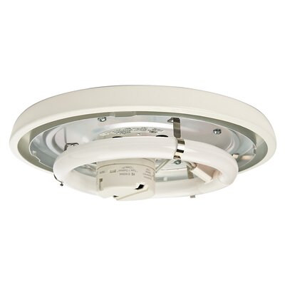 Compact Fluorescent Low Profile Light Fitter Finish: Snow White