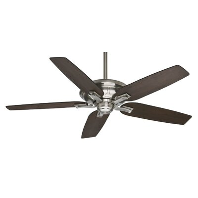 60 Brescia� 5-Blade Ceiling Fan - Motor Only Motor Finish: Brushed Nickel