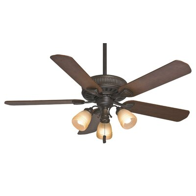 54 Ainsworth Gallery 5-Blade Ceiling Fan Finish: Onyx Bengal with Distressed /Dark Walnut Blades