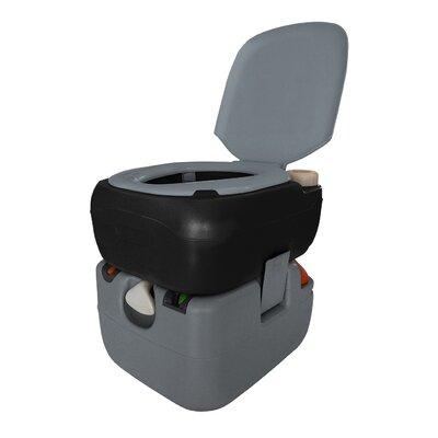 Portable Electric Flush 3 GPF Round One-Piece Toilet