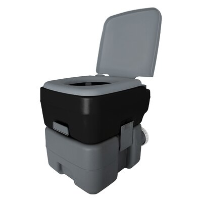 Portable 2.5 GPF Round One-Piece Toilet