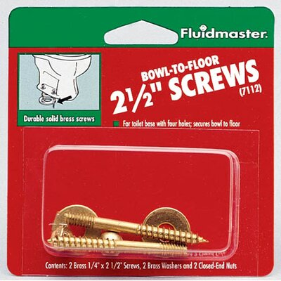 Bowl-To-Floor Screws