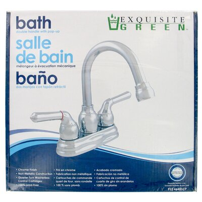 Centerset Bathroom Faucet with Cold and Hot Handles