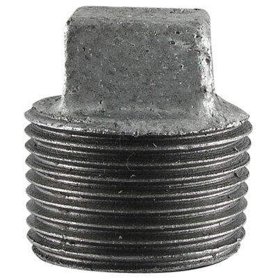 Square Head Plug Diameter: 1.25, Finish: Galvanized