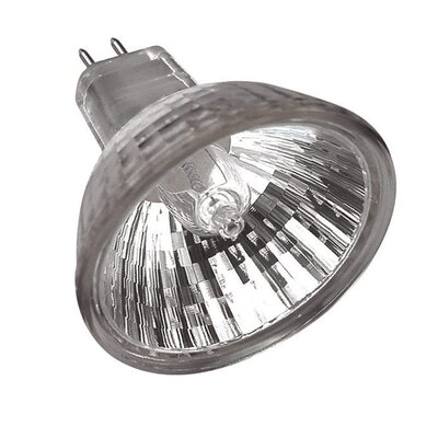 65 Watt Dichroic Halogen Reflector Bulb with 40 Degree Beam Angle Voltage: 24 Volts, Glass Cover: Clear Glass Cover Lens