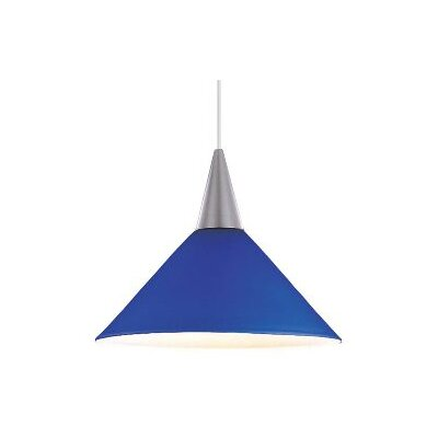 Contemporary Lisa 1-Light Pendant Finish: Brushed Nickel, Shade Color: Blue