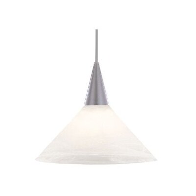 Contemporary Lisa 1-Light Pendant Finish: Black, Shade Color: White Marble