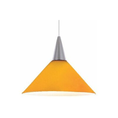 Contemporary Lisa 1-Light Pendant Finish: White, Shade Color: Amber