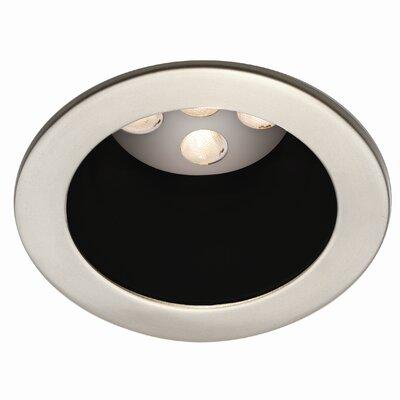 LEDme Round 3.63 LED Recessed Trim Finish: Black / Brushed Nickel