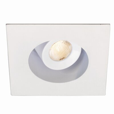 LEDme Adjustment Square 1.25 LED Recessed Lighting Kit Bulb: 3000K