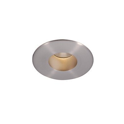 Downlight Open Round 2 Recessed Trim LED with 26 Degree Beam Angle Finish: Brushed Nickel, Bulb: 4000K