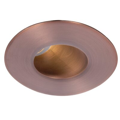 Downlight Adjustable Round 2 LED Recessed Trim Finish: Copper Bronze, Bulb: 3000K