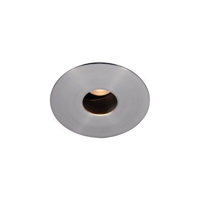 PinHole Downlight Round 1.88 LED Recessed Trim Finish: Brushed Nickel, Bulb: 3000K