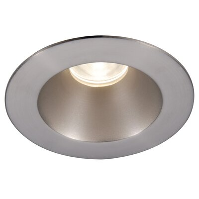 Downlight Shower Round 3.5 LED Recessed Trim with 28 Degree Beam Angle Finish: Brushed Nickel, Bulb: 3000K