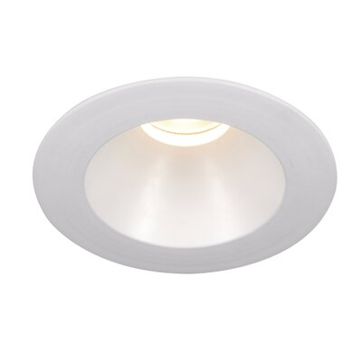Tesla Recessed Downlight Bulb Color: Warm White, Finish: White