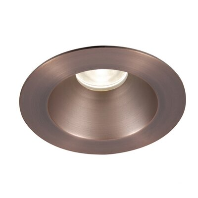 Downlight Shower Round 3.5 LED Recessed Trim with 28 Degree Beam Angle Finish: Copper Bronze, Bulb: 3000K