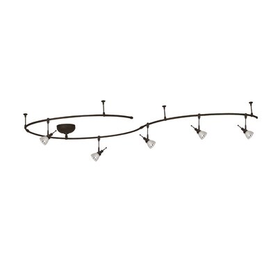 Windsor 5-Light Solorail Full Track Lighting Kit Finish: Dark Bronze