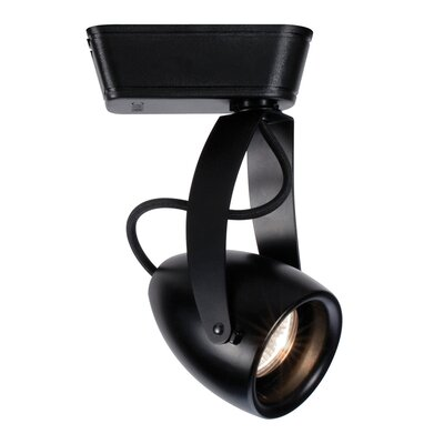 Halo Series 1-Light Impulse Track Luminaire Track Head Color Temperature: 3000K, Finish: Black, Track Type: Juno Series