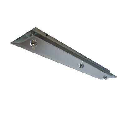 Quick Connect Rectangular Glass Canopy with Dimmer Finish Color: Mirror