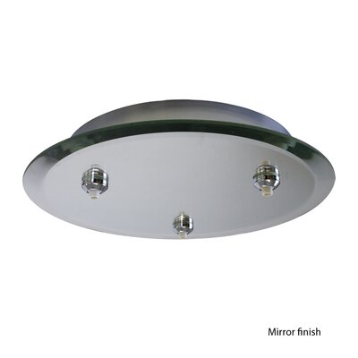 Quick Connect Round Glass Canopy with Dimmer Finish Color: Mirror