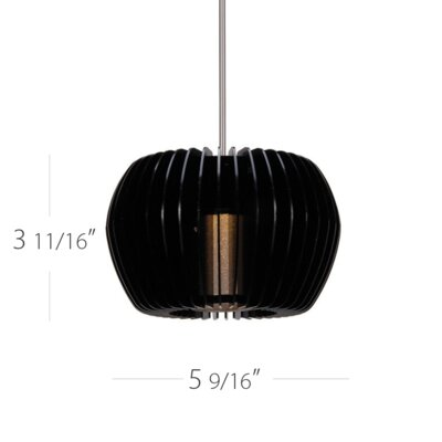 Uber Mini Pendant Finish: Black / Chrome