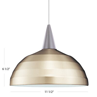 Felis Bowl Pendant Shade Color: Brushed Nickel, Finish: White, Track Collection: Lightolier Series
