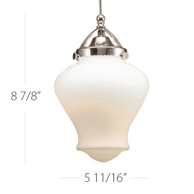 Sheffield LED Monopoint Pendant Finish: Chrome