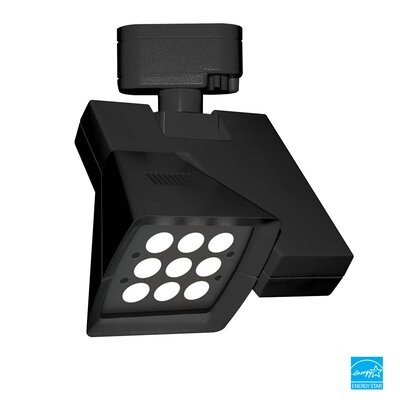 Logos 9-Light 23W LED 4000K Track Head Finish: Black, Lens Degree: Flood
